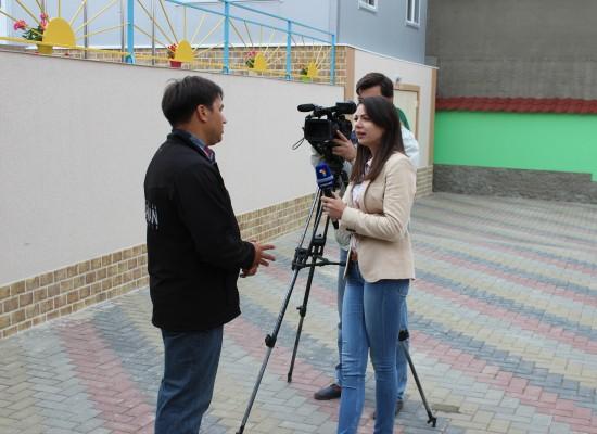 Reportage Moldavische televisie